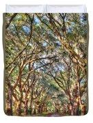 Plantation Allee Of Oaks Duvet Cover