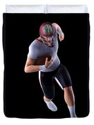 American Football Player Duvet Cover