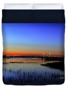 Lights Blaze In Dusking Sky Duvet Cover