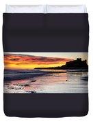 Bamburgh Castle At Sunrise Duvet Cover