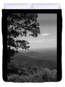 Blue Ridge Mountains - Virginia Bw Duvet Cover
