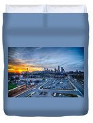 Charlotte Downtown At Night Duvet Cover