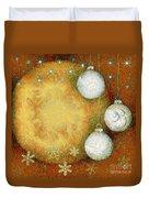 Christmas Background Duvet Cover