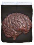 Clay Model Of Brain Duvet Cover