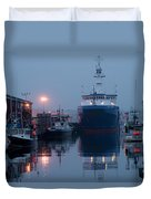 Early Morning In Portland, Maine Duvet Cover