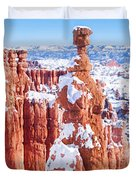 Eroded Rocks In A Canyon, Bryce Canyon Duvet Cover