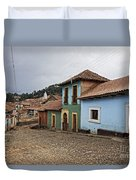 forgotten village Totora Duvet Cover
