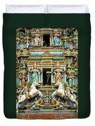 Hindu Temple With Indian Gods Kuala Lumpur Malaysia Duvet Cover