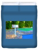 8 Hole Sign On  Golf Course Duvet Cover