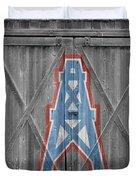 Houston Oilers Duvet Cover by Joe Hamilton