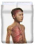 Internal Anatomy Pre-adolescent Duvet Cover