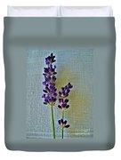 Lavender On Linen Duvet Cover