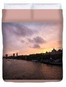 London Skyline Sunset Duvet Cover