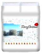 Christmas Card 24 Duvet Cover