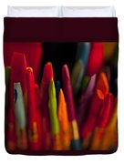 Multi Colored Paint Brushes Duvet Cover