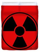 Radiation Warning Sign Duvet Cover