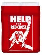 Red Cross Poster, 1917 Duvet Cover