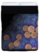 Rubella Virus Duvet Cover