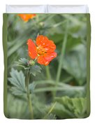 Scarlet Avens Orange Wild Flower Duvet Cover