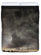 Severe Warned Nebraska Storm Cells Duvet Cover