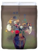 Vase Of Flowers Duvet Cover by Odilon Redon