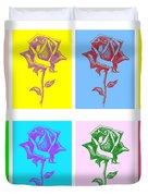 8 Warhol Roses By Punt Duvet Cover