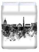 Washington Dc Skyline In Watercolor On White Background Duvet Cover