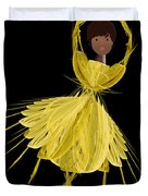 8 Yellow Ballerina Duvet Cover