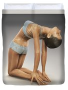 Yoga Camel Pose Duvet Cover