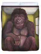800 Pound Gorilla In The Room Edit 4 Duvet Cover
