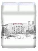 8th And Clark Busch Stadium Sketch Duvet Cover