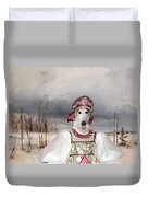 Borzoi - Russian Wolfhound Art Canvas Print Duvet Cover