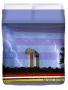 9-11 We Will Never Forget 2011 Poster Duvet Cover