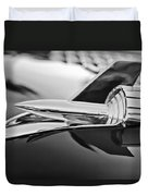 1957 Chevrolet Belair Hood Ornament Duvet Cover