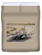 An F-16i Sufa Of The Israeli Air Force Duvet Cover