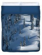 Backcountry Ski Traverse In Glacier Duvet Cover