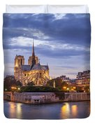 Cathedral Notre Dame Duvet Cover by Brian Jannsen