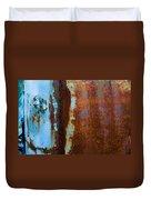 Colored Rust Metal Duvet Cover