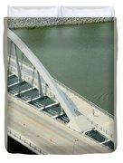 Fx1l-878 Main Street Bridge Columbus Ohio Photo Duvet Cover
