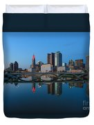 Fx2l-508 Columbus Ohio Skyline Photo Duvet Cover