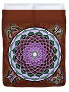 Cosmic Flower Mandala 6 Duvet Cover