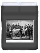Death Of Lincoln, 1865 Duvet Cover