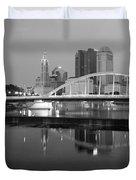 Downtown Skyline Of Columbus Ohio Duvet Cover