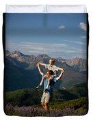 Family Hiking Duvet Cover