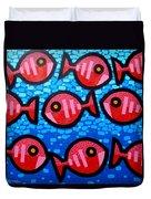 9 Happy Fish Duvet Cover