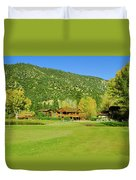 9-hole Golf Course In Autumn At Pine Duvet Cover