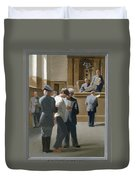 9. Jesus Before The Magistrate / From The Passion Of Christ - A Gay Vision Duvet Cover