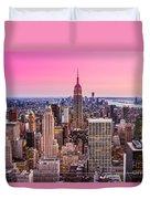 Manhattan - New York City Duvet Cover