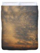 Nebraska Mammatus Sunset Duvet Cover