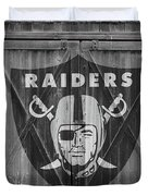 Oakland Raiders Duvet Cover by Joe Hamilton